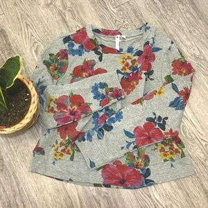 [Cable & Gauge] large floral pullover